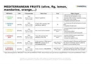 Program for use - Mediterranean fruits 2019-1