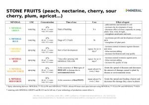 Program for use - Stone fruits 2019-1